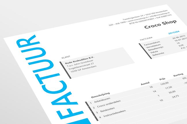 Factuur maken in Excel